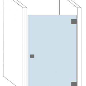 Douchecabine met één glazen deur - Type Nice