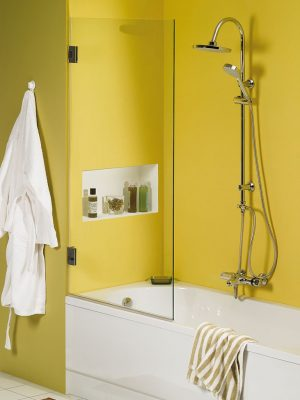 Glazen badscherm. Type Versailles